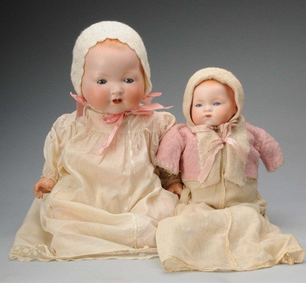 916: Lot of 2 Bisque Baby Dolls.