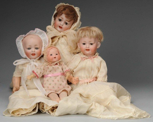 917: Lot of 4: Bisque Baby Dolls.