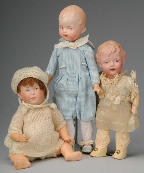 923: Lot of 3: Gebruder Heubach Character Dolls.