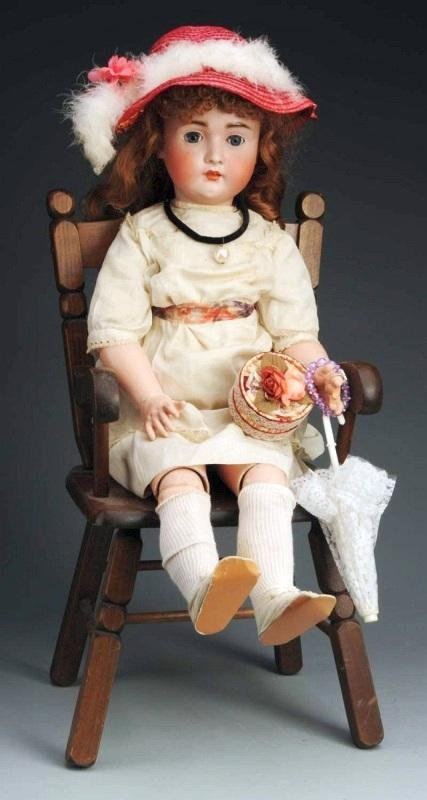 15: Hertel Schwab & Co. German Bisque Child Doll.