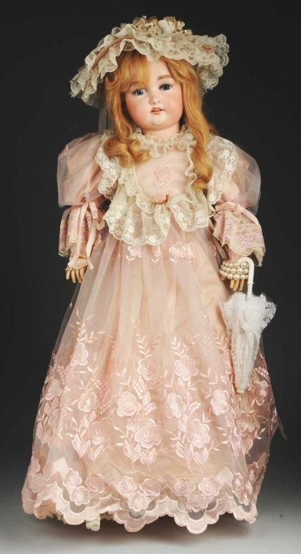 18: Large Armand Marseille German Bisque Child Doll.