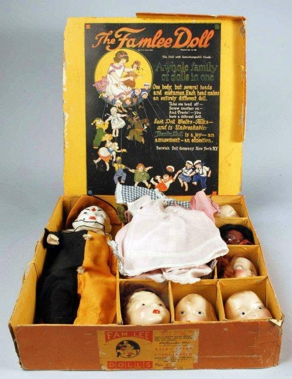 "89: Rare Boxed ""The Famlee Doll"" Set."