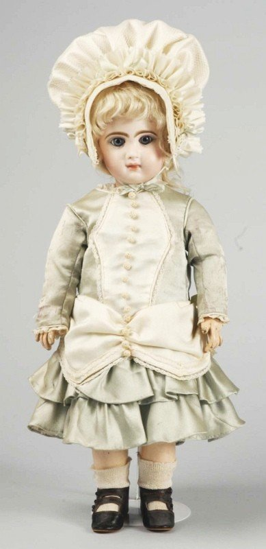 165: Beautiful French Bisque Doll with Closed Mouth.