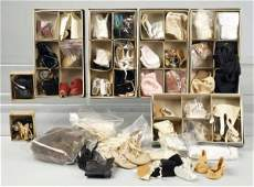 252: Large Lot of Doll Shoes.