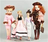 504: Lot of 4: Madame Alexander Fashion Dolls.