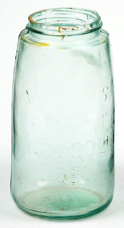 2: Mason's Quart Size Green Jar.