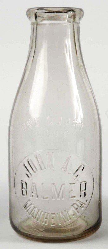 4: John Balmer 1-Quart Milk Bottle.