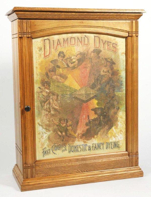 12: Wooden Oak Diamond Dye Cabinet.