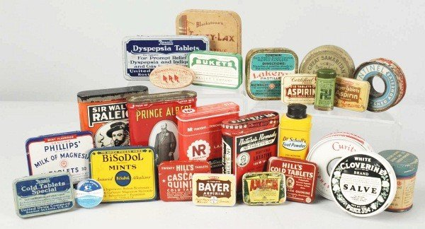 18: Lot of 25+ Assorted Advertising Tins.