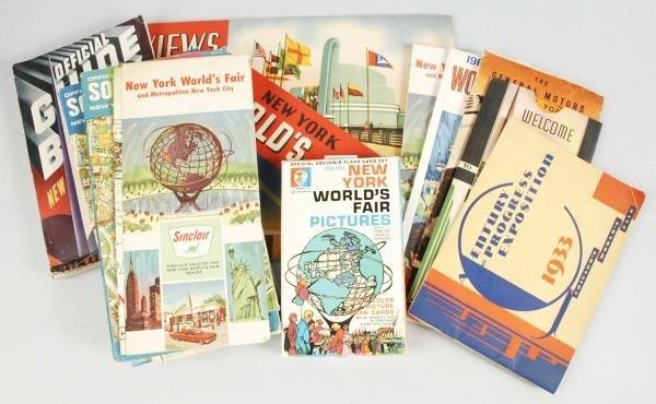 22: Lot of New York's World Fair Maps & Handbooks.