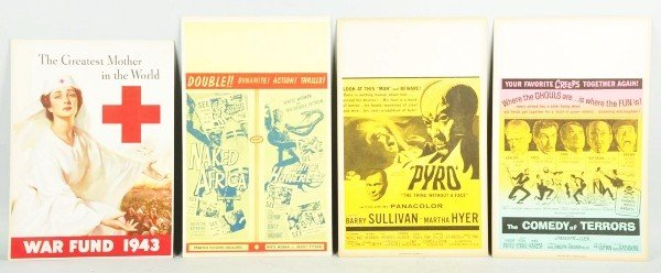 25: Lot of 4: Cardboard World War I Posters.