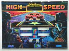 154: Glass from High Speed Pinball Machine Game.