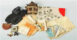 315: Lot of Japanese World War II Items.