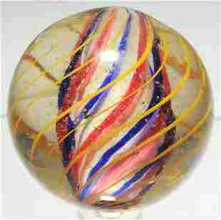 Large 3 Stage Solid Core Swirl Marble.