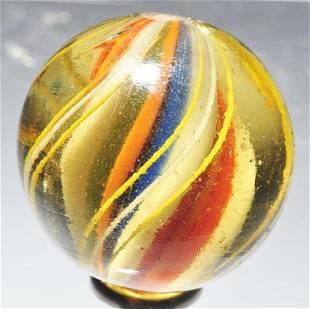 Ridge Core Swirl Marble in Olive Glass.