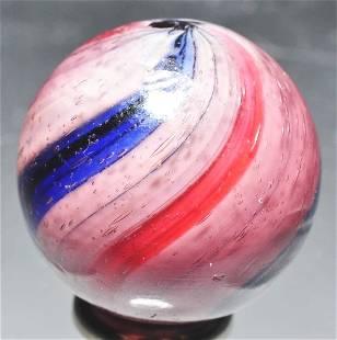 Peppermint Swirl Marble in Amethyst Glass.
