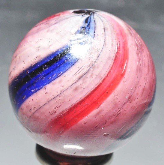 12: Peppermint Swirl Marble in Amethyst Glass.