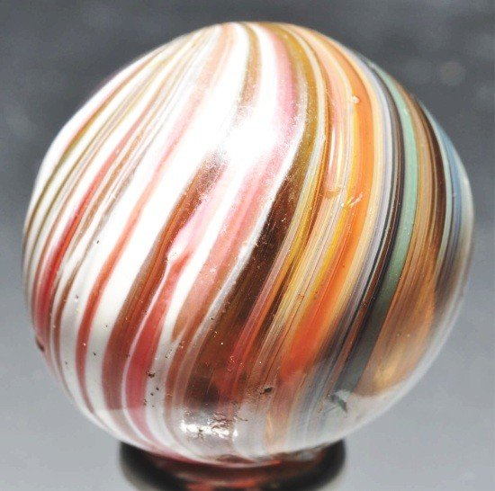 13: Light Brown Glass Marble.