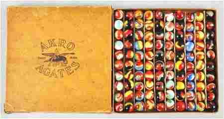 229: Akro Agate No. 1 Assorted Corkscrew Box Set.