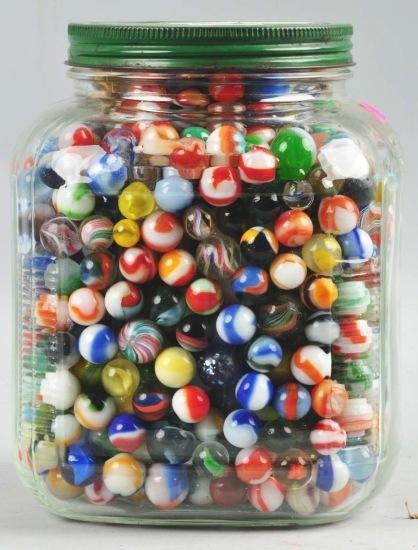 314: Jar of Approximately 1,000 Marbles.