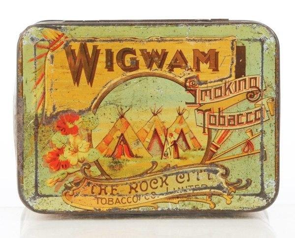 2: Wigwam Smoking Tobacco Horizontal Pocket Tin.