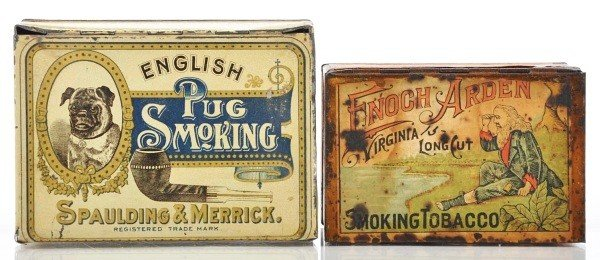 23: Lot of 2: Square Corner Tobacco Tins.