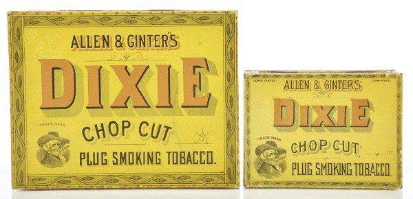24: Lot of 2: Square Corner Tobacco Tins.