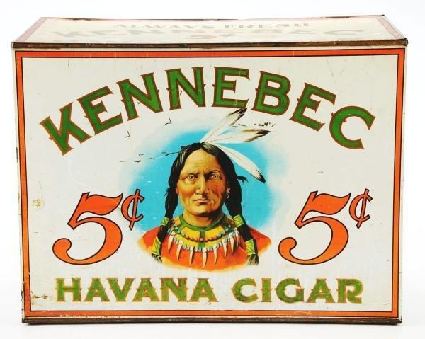 82: Kennebec Havana Cigar Tin Store Bin.