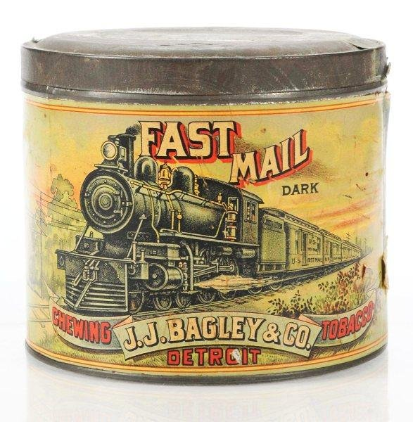 526: Fast Mail Paper Label Tobacco Tin.