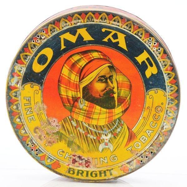800: Omar Fine Cut Pie-Shape 1-Pound Tin.