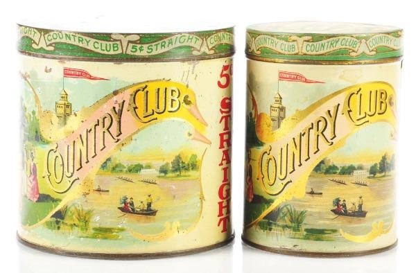 807: Lot of 2: Country Club Cigar Tins.
