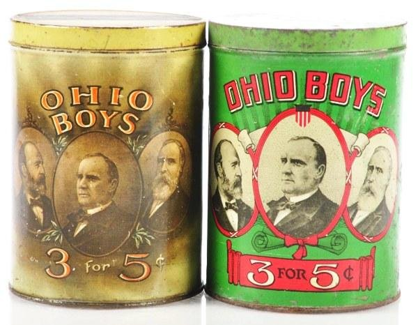 808: Lot of 2: Ohio Boys Cigar Tins.