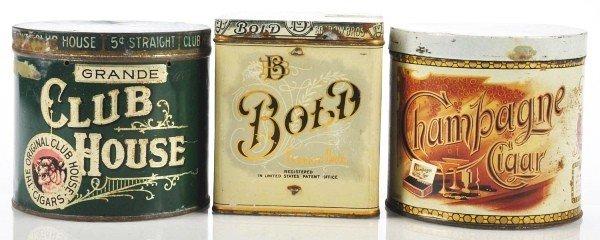 817: Lot of 3: Cigar Tins.