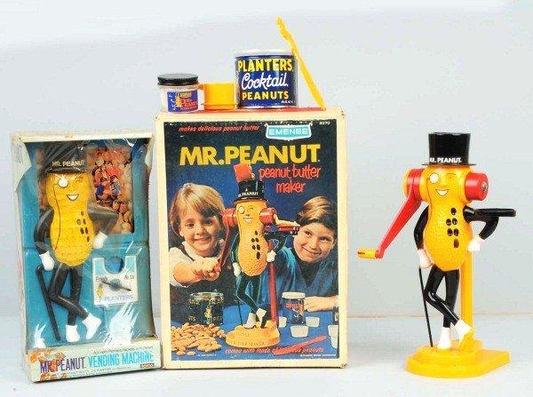 4: Lot of 2: Plastic Planters Mr. Peanut Items.