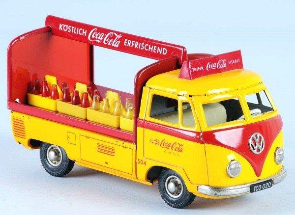 7: Tin Coca-Cola Volkswagen Truck Friction Toy.