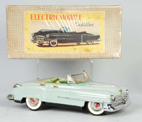 21: Tin Electricmobile Cadillac Battery-Op Toy.