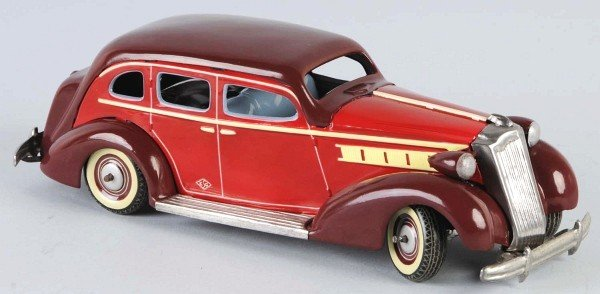 23: Pre-War Tin Packard Automobile Wind-Up Toy.