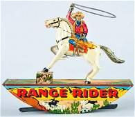 204: Tin Marx Lone Ranger Range Rider Wind-Up Toy.