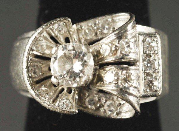 4: 14K W. Gold Ladies Ring.