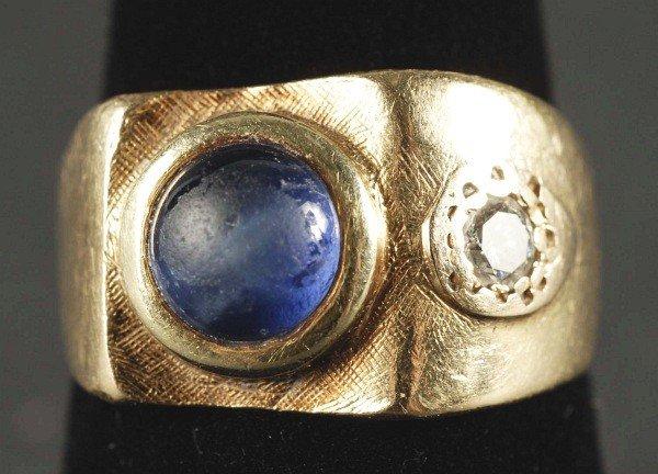 5: Mens 14K Gold Ring.