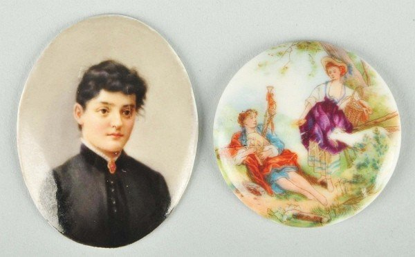15: Lot of 2: Small Cameo Portraits.