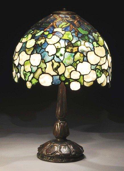 166: Tiffany Studios Hydrangea Table Lamp.