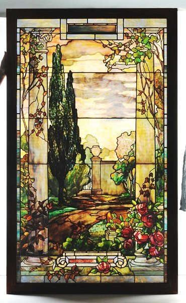 218: Magnificent Tiffany Stained Glass Window.