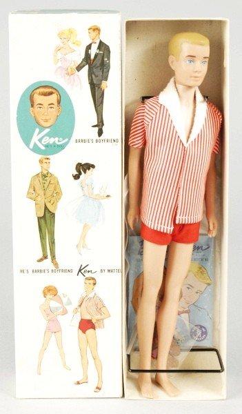 802: Blonde Painted Hair Ken Doll in Box.