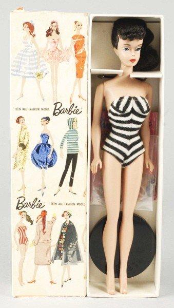 804: Brunette No. 4 Barbie Doll in Box.
