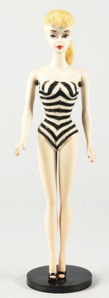 805: 1960 No. 3 Blonde Barbie Doll.