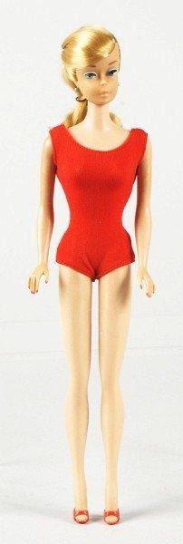808: Ash Blonde Swirl Ponytail Barbie Doll.