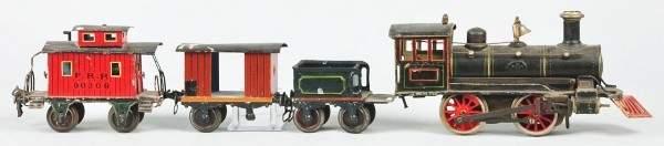 1085: Marklin Gauge 1 Steam Engine Freight Train Set.
