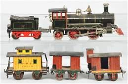 1086: Marklin Steam Locomotive Freight Train Set.