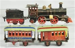 1097: Handpainted Marklin Gauge 1 Passenger Train Set.